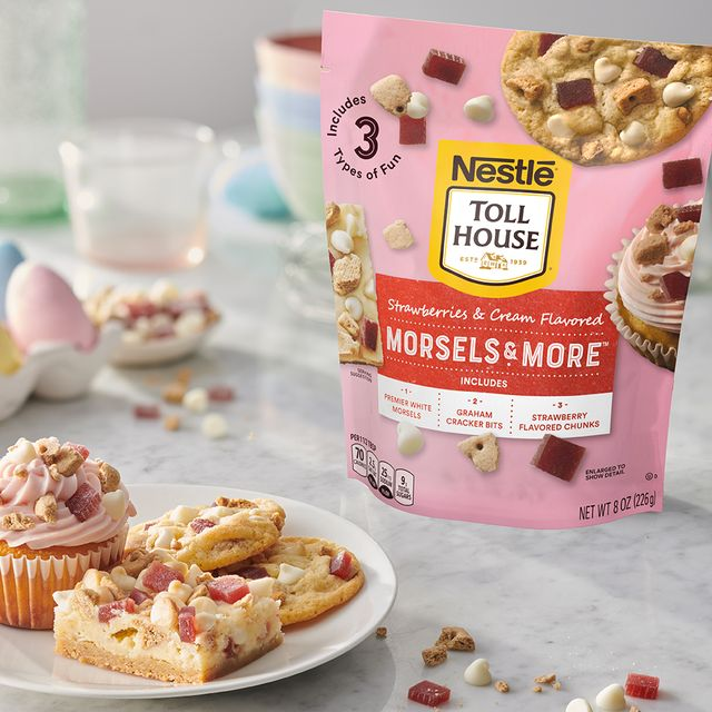 nestlé toll house morsels  more strawberries  cream flavored