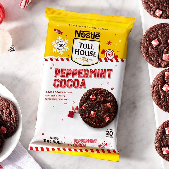 nestlé toll house peppermint cocoa cookie dough
