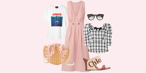 Clothing, Pink, Footwear, Peach, Design, Outerwear, Pattern, Dress, Sleeve, Pattern,