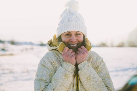 winter young woman portrait
