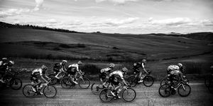 CYCLING-ITA-STRADE-BIANCHE-BLACK AND WHITE