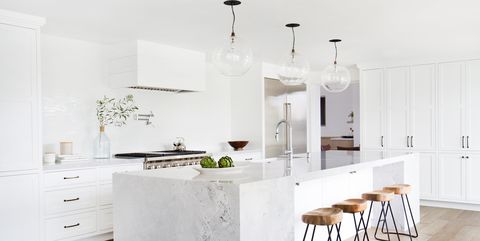 15 White Kitchen Design Ideas - Decorating White Kitchens