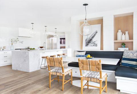 Sala, Mobiliário, Branco, Design de interiores, Propriedade, Piso, Sala de jantar, Mesa, Edifício, Casa,