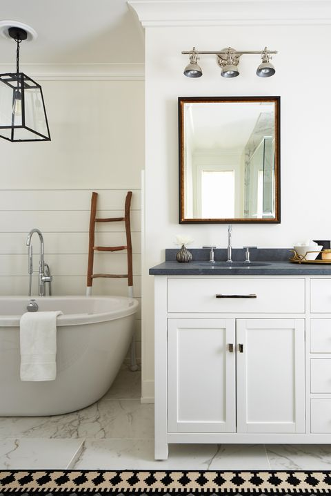 50 Bathroom Decorating Ideas - Pictures of Bathroom Decor ... on master bathroom furniture, master bathroom doors, master bathroom wood, master bathroom slate, master bathroom travertine, master bathroom bathroom, master bathroom cabinets, master bathroom porcelain, master bathroom walkways, master bathroom countertops, master bathroom showers, master bathroom flooring, master bathroom tubs, master bathroom rugs, master bathroom marble, master bathroom tile, master bathroom sinks,