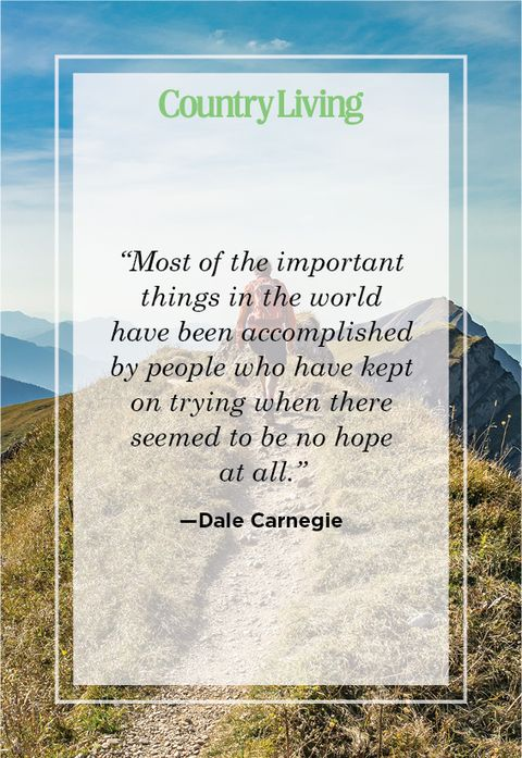 Never give up quote by Dale Carnegie