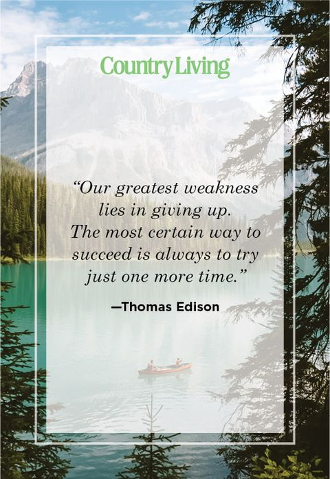 Never give up quote by Thomas Edison