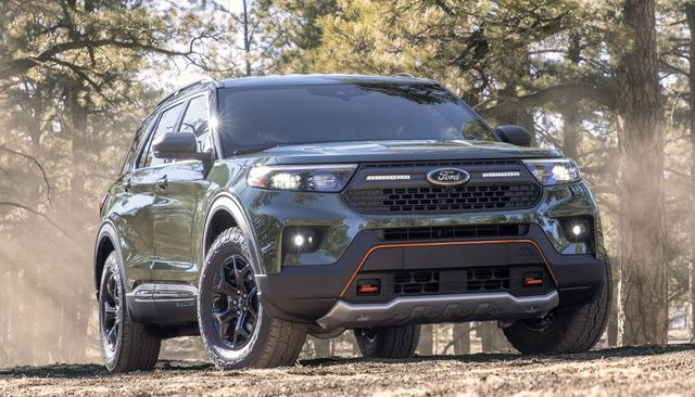 ford delivers on promise to offer more rugged, off road capable suvs and trucks by introducing the new explorer timberline the first timberline series ford suv gives customers more capable off road features for memorable weekend adventures with family and friends