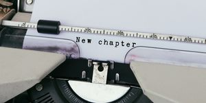 Quotes About Change -New Chapter Typed on Vintage Typewriter