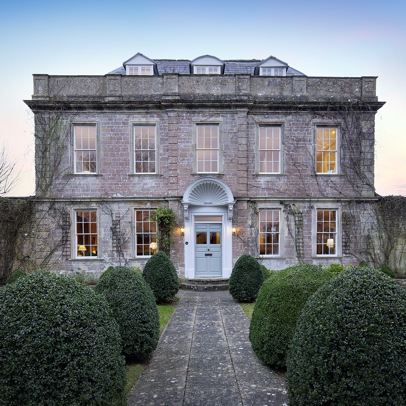Beautiful detached country house with breathtaking views for sale in Somerset