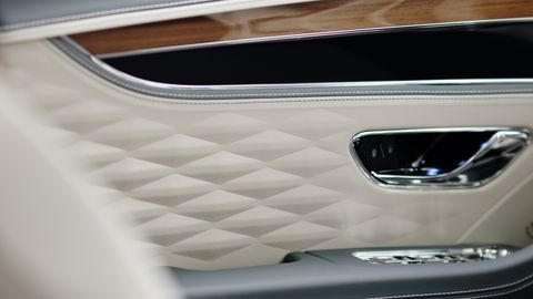 2020 Bentley Flying Spur Teased - New 3D Leather Quilting ...