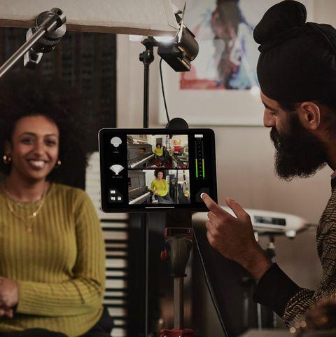 new iPad Pro studio photography set-up