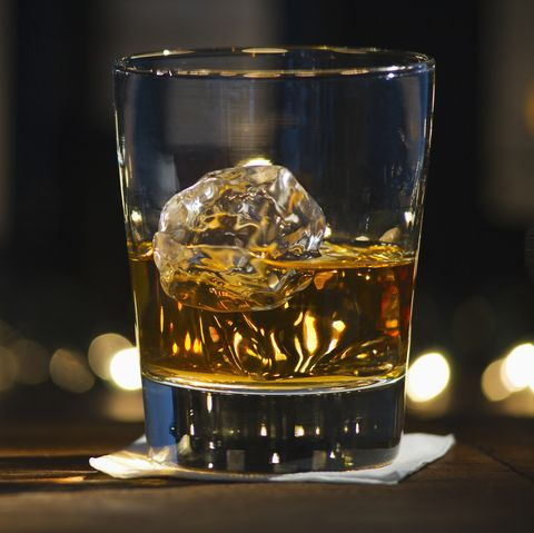 Whisky on bar counter