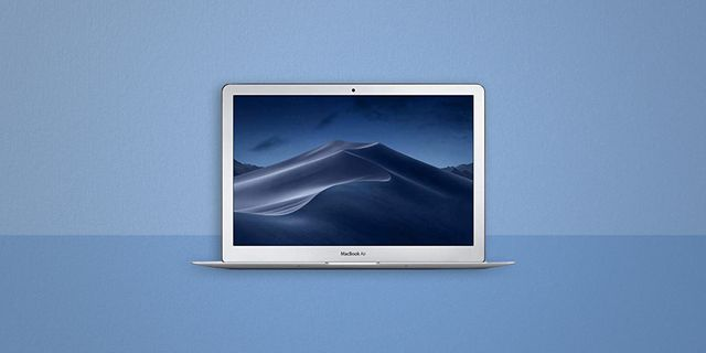 a macbook air with a built in webcam