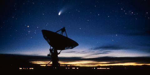 New Mexico, Vla Radio Telescope And Hale-Bopp Comet