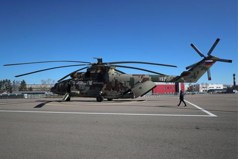 Mil Mi-26T2V helicopter presented in Moscow Region, Russia