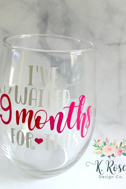 Mom To Be Gifts New Wine Glass