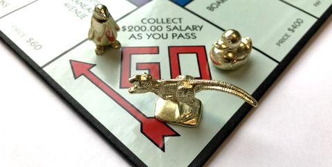 new monopoly pieces t-rex penguin rubber ducky