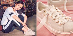 PUMA, PUMA Suede 球鞋, Rihanna, 劉雯, 厚底鞋, 小白鞋, 球鞋, 蕾哈娜, 麂皮球鞋,珍珠,運動鞋