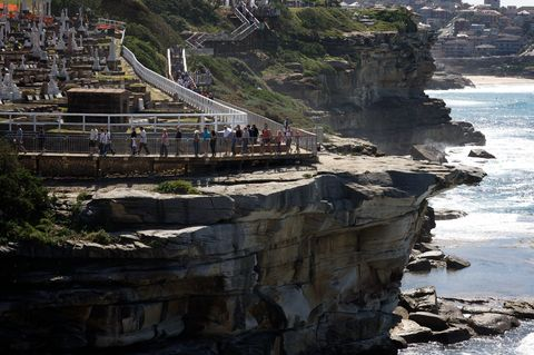 A new pathway has opened along the popular coastal walk that links Coogee to Bondi in Syndey. Th