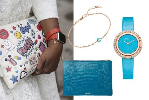 Turquoise, Wallet, Fashion accessory, Handbag, Bag, Arm, Turquoise, Wrist, Coin purse, Leather,