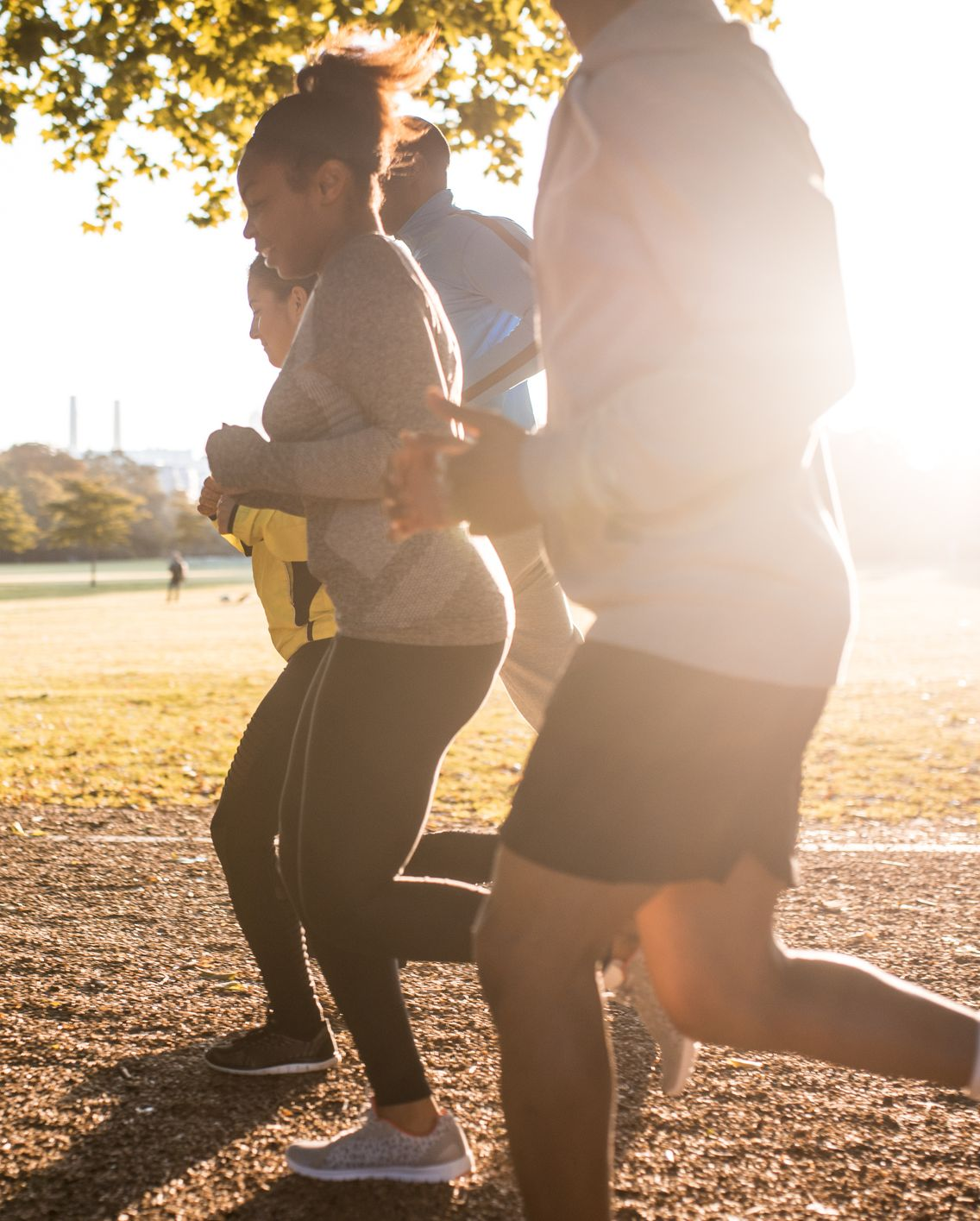It's great to run when sun is shining