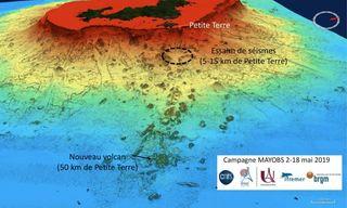 undersea volcano map