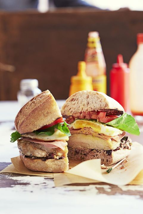 new years brunch ideas - chicken chivito sandwich