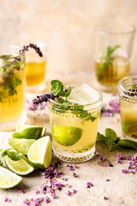 Drink, Food, Mojito, Lemonade, Alcoholic beverage, Spritzer, Cocktail, Mint, Limeade, Ingredient,
