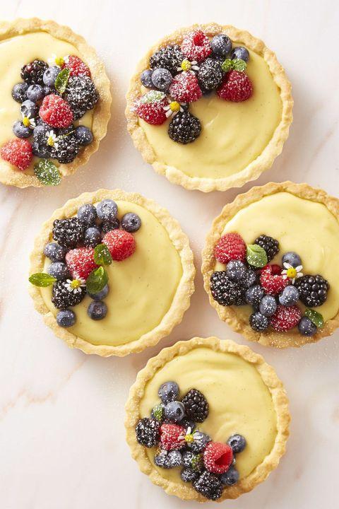 new years desserts - berry cream tartlets