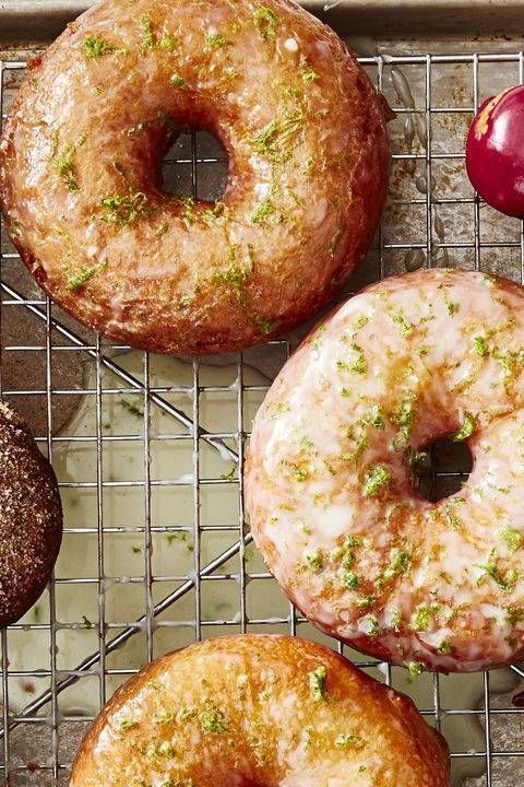 new years desserts - coconut lime donuts
