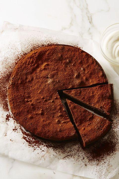 new year desserts - flourless fudge cake