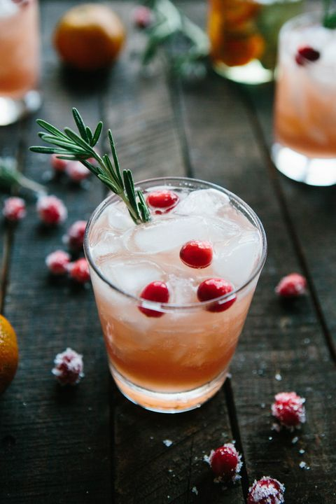 new years drinks cranberry rosemary