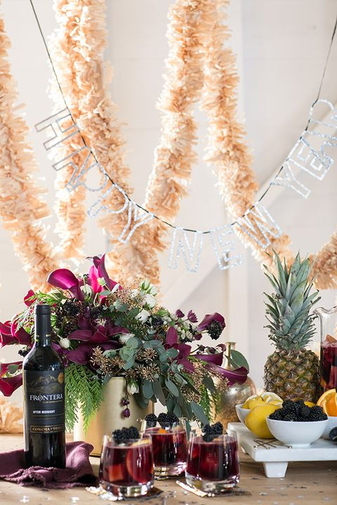 new years eve party ideas sangria bar