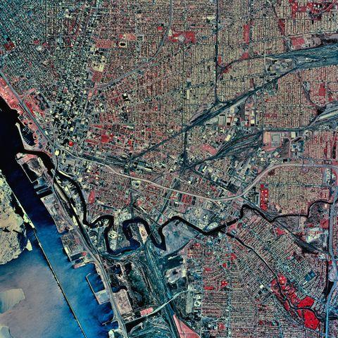 USA, New York, Buffalo, satellite image