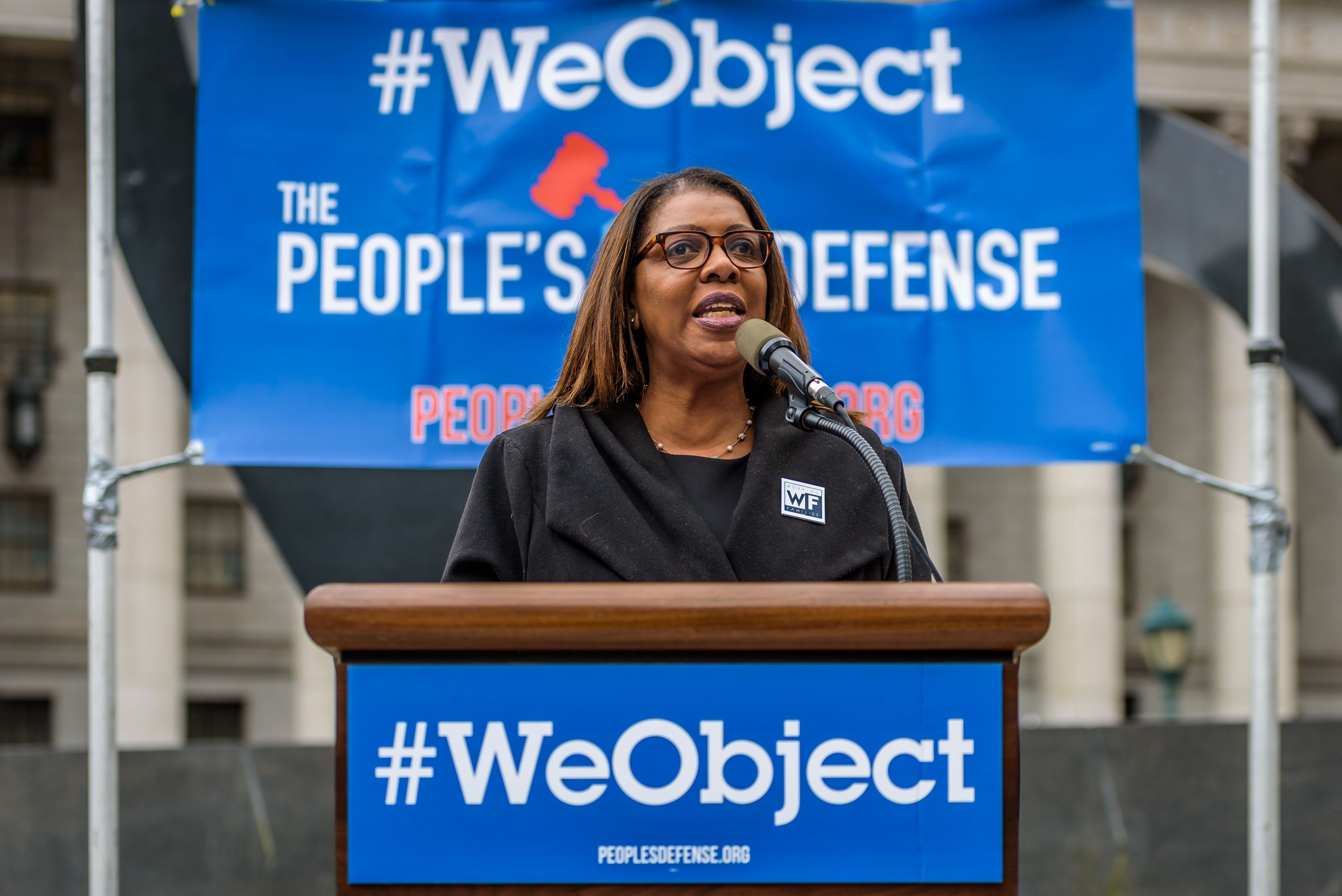 New York City Public Advocate Tish James - Two days before...