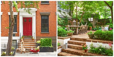 Tour This New York City Country Chic Home - Townhouse ... Ideas Backyard Small Nyc on fire pit ideas, small homes and cottages, patio ideas, small garden ideas, small bathroom ideas, carport ideas, small bedroom ideas, small vegetable garden, small fountain ideas, fencing ideas, small playground ideas, mailbox landscaping ideas, small pool ideas, fireplace ideas, inexpensive landscaping ideas, small yard landscaping ideas, small japanese garden designs, kitchen ideas, deck ideas,