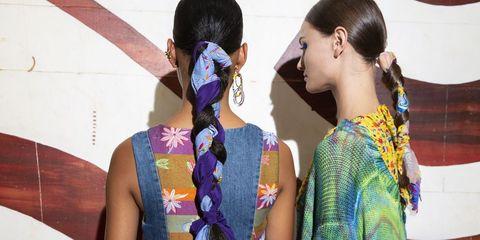 New York Fashion Week hair scarf