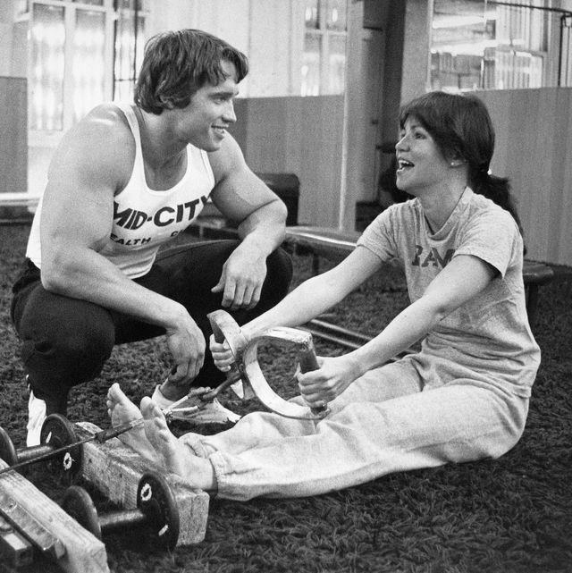 Arnold Schwarzenegger Training Sally Field