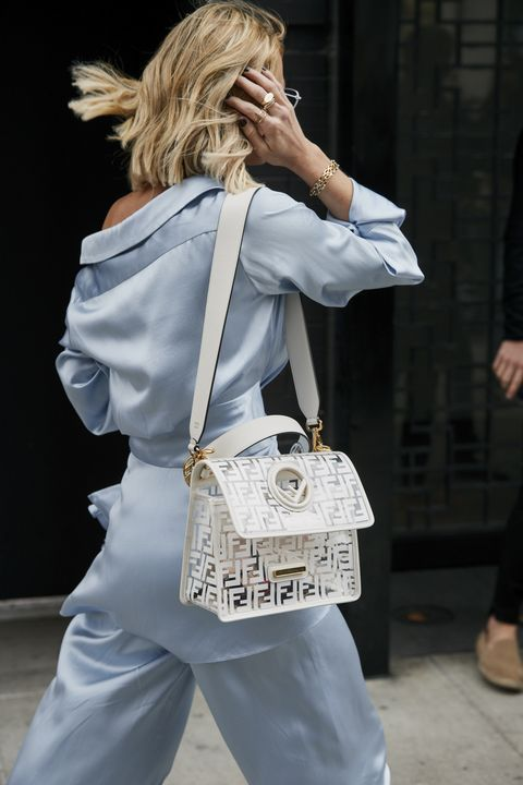 White, Street fashion, Shoulder, Fashion, Bag, Joint, Handbag, Outerwear, Blond, Footwear,