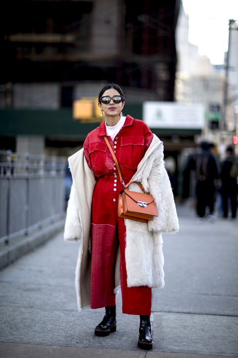 Street fashion, Red, Fashion, Outerwear, Tradition, Costume, Style, Coat, Fashion design,