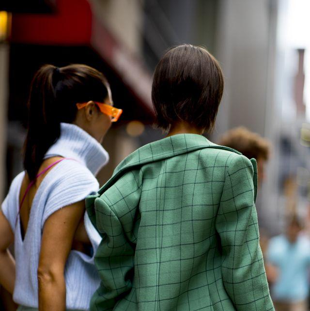 Photograph, People, Snapshot, Fashion, Human, Street fashion, Interaction, Street, Outerwear, Leg,