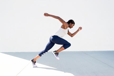 Jumping, Joint, Arm, Leg, Knee, Footwear, Recreation, Human body, Running, Sports,