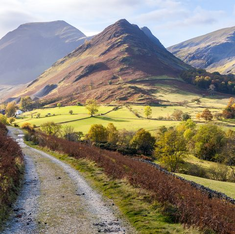 newlands valley in autumn lake district national park uk