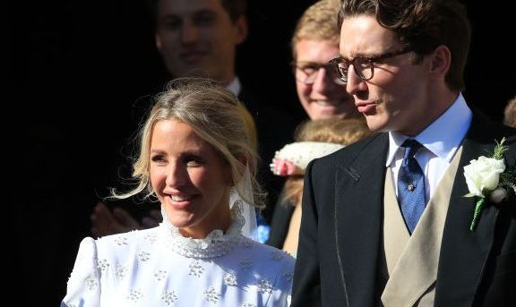Ellie Goulding S Intricately Embroidered Chloe Wedding Gown