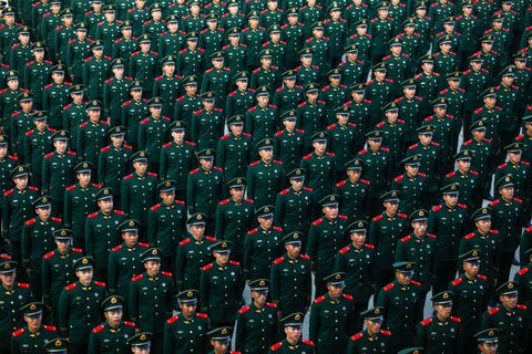 New Recruits Attend Inauguration Ceremony In Lanzhou