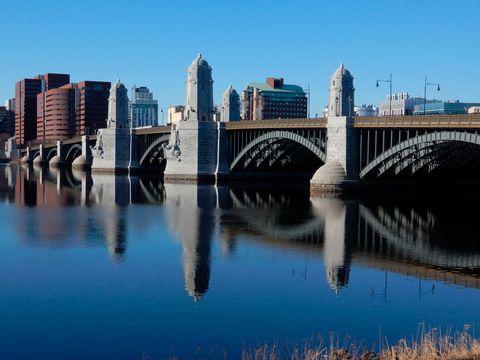 newly refurbished longfellow bridge 2018, boston, massachusetts, usa