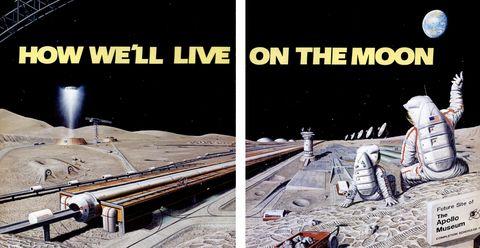 illustration d'un établissement humain sur la lune