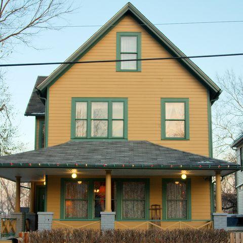 uma casa de história de natal