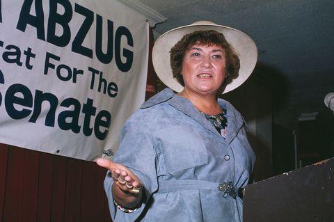 democratic representative bella abzug at podium