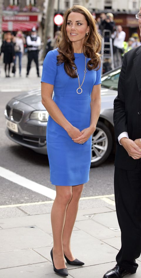 catherine, duchess of cambridge visits national portrait gallery's 'road to 2012 aiming high' exhibition